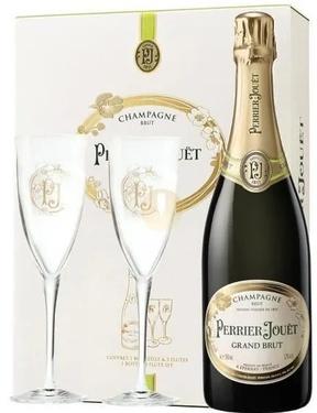 Champagne Perrier Jouet Grand Brut Coffret 2 Flutes