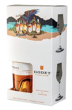 Cognac Godet Vsop 70cl 40° Etui + 2 Verres